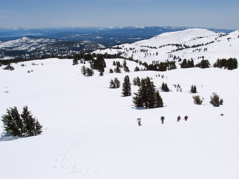 Climbing with a view straight out to Lake Almanor