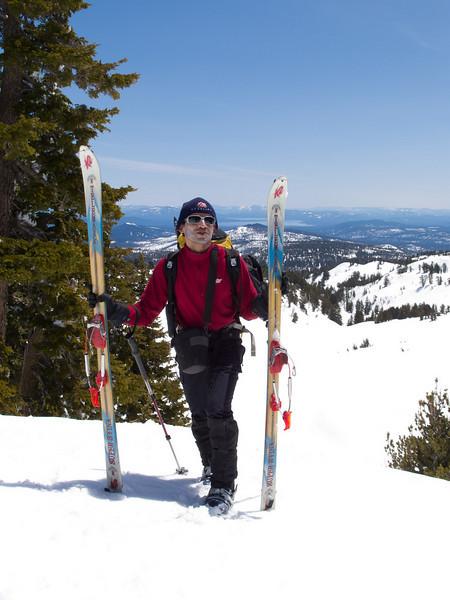 Arun and skis