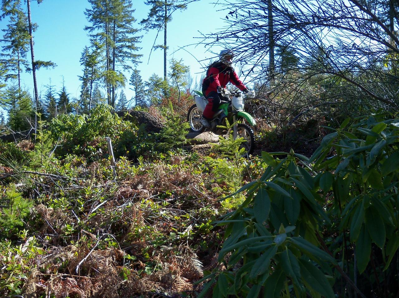 Kurt going over the log..