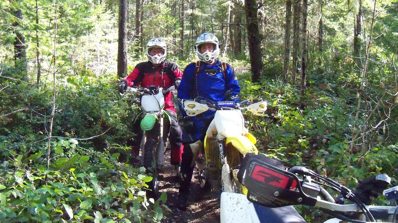 Kurt and Bart on Hurd Rd trails..