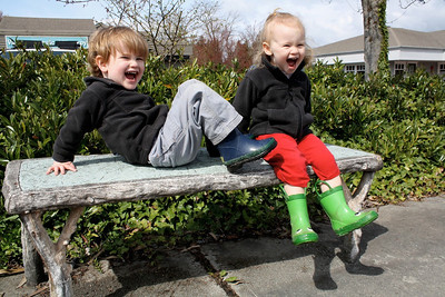 Goofy (and happy) kids