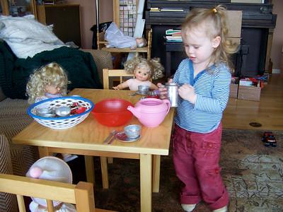 Flora's tea party