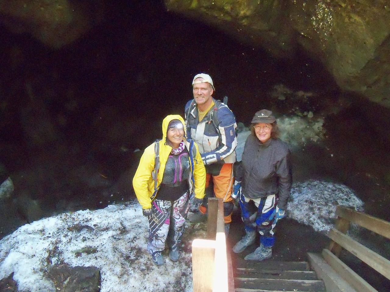 Antonella, Todd & Sylvia - I didn't last long - way too icy for me!