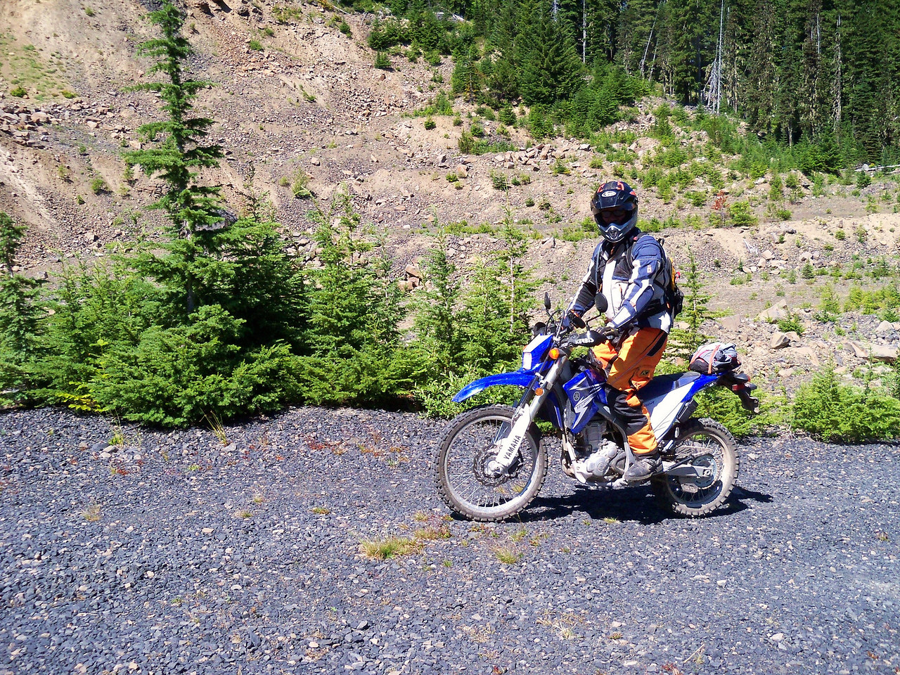 Todd on his WR 250 R