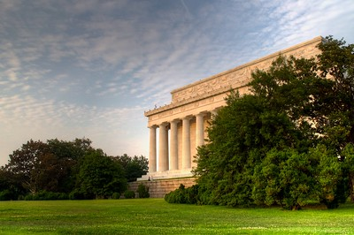 HDR image of the back of the Lincoln Memorial.  Processed using Photomatix+Aperture.