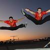The acrobatics.