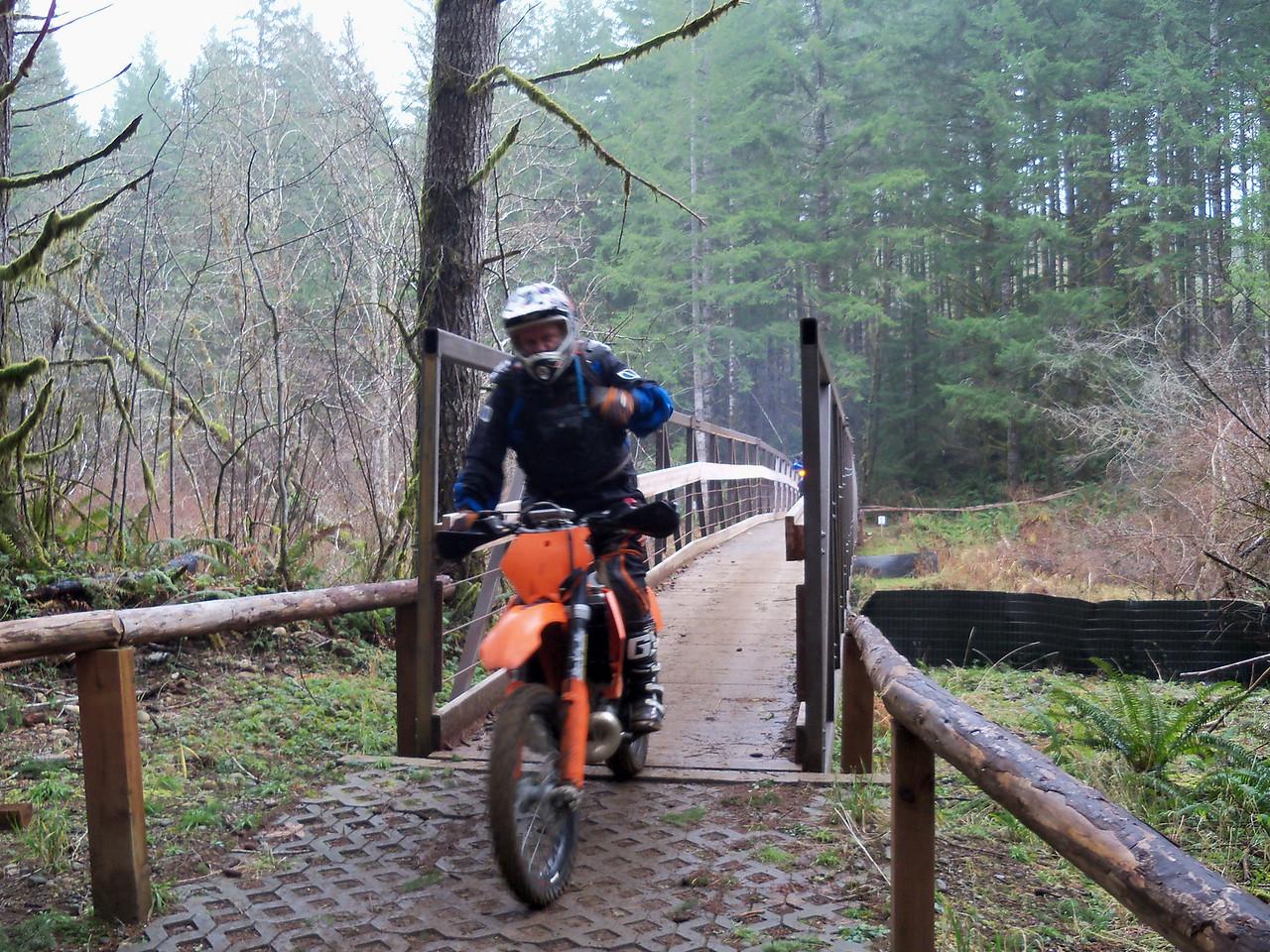 Rory on Fred's Bike
