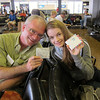 David so admired Grace's Tyvek wallet that she bought him one for Father's Day at the airport. Matchy!
