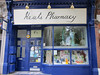 After we left our luggage at the Payne's house in Hampstead, we wandered down the High Street past this charming pharmacy towards the home of the namesake...
