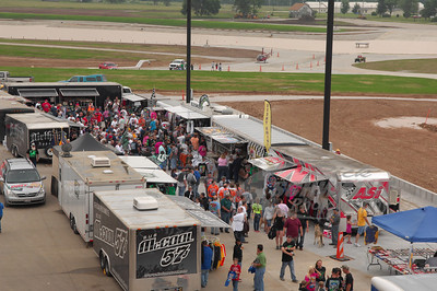 Vendor area @ Lucas Oil Speedway for the 19th Annual Dart Show-Me 100