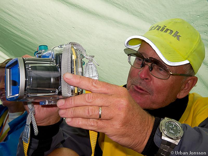 Mästerfotografen Hedberg i farten.