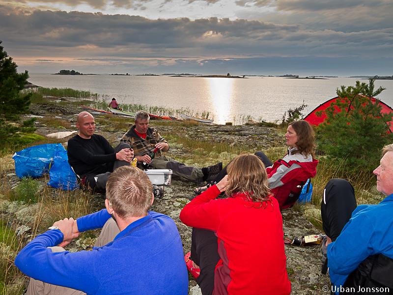 Vår lägerplats i Millesviks skärgård.