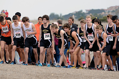 Our boys would toe the line first. Their work was definitely cut out for them. Ranked 8th in Division 2 as recently as November 2nd, they needed to pull off the next-to-impossible task of finishing in the top 3 to advance to State. Anyone with their senses about them had already penciled in Los Gatos and Los Altos in the number one and two spots. After that it was going to be a free-for-all for third, with teams like Leland, Cupertino, Willow Glen, Aragon, and Serra in the mix.
