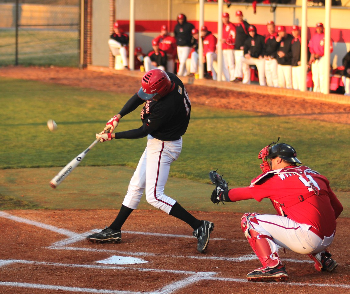 #16 Benji Jackson leads off for the 'Dogs in their game against St. John's.