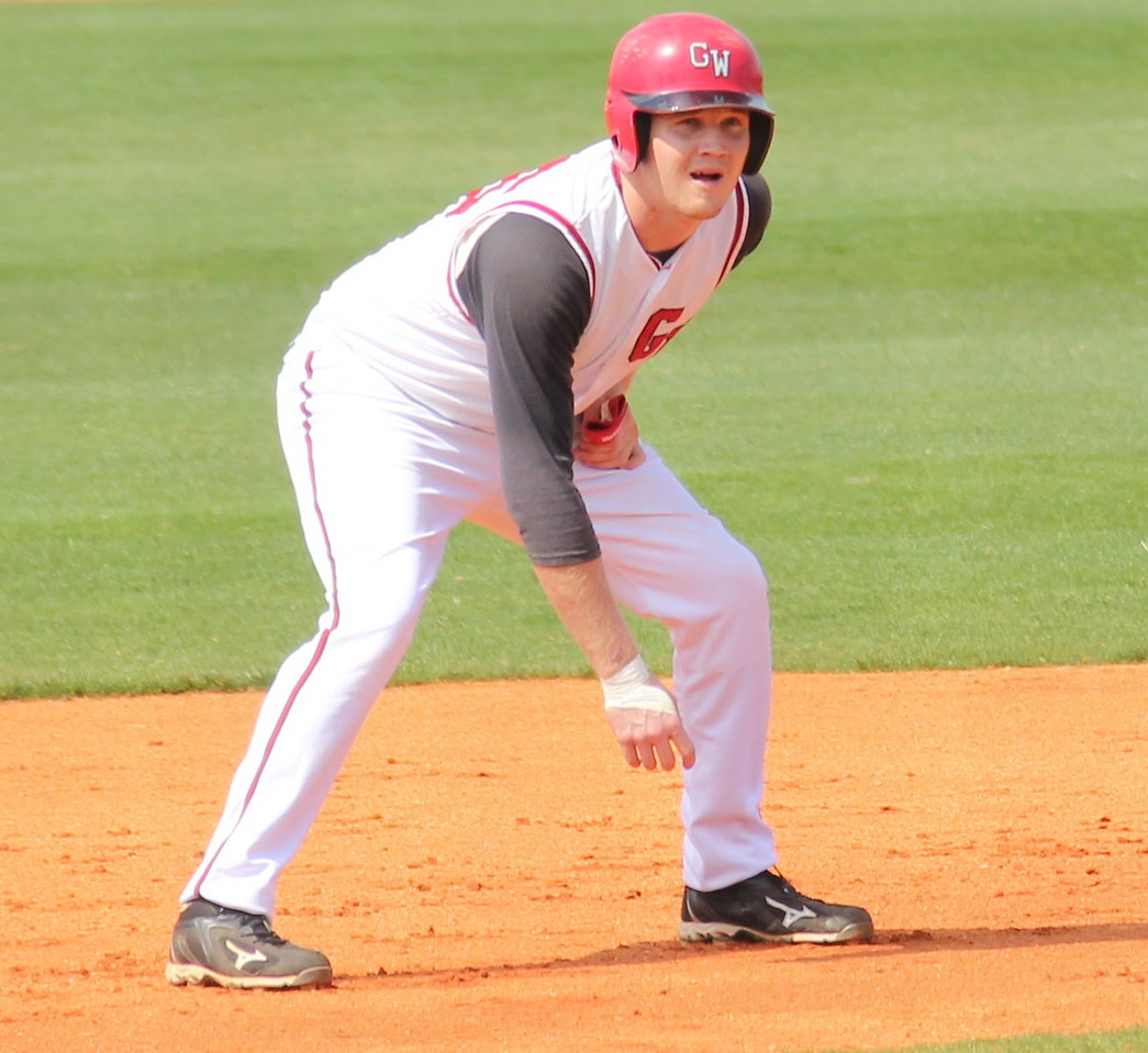 #26 Jake Watts awaits a pitch on second base in the Diamond 'Dogs winning effort against UNC-Asheville.
