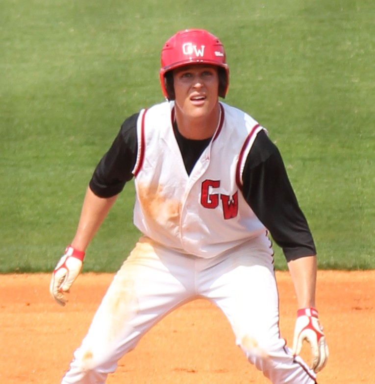 Benji Jackson watches a ball and contemplates stealing second during the March 19th game against UNC-Asheville.