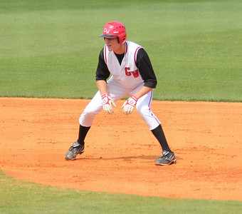 #16 Benji Jackson reached first base in the 'Dogs win against UNC-Asheville on March 19th, 2011.