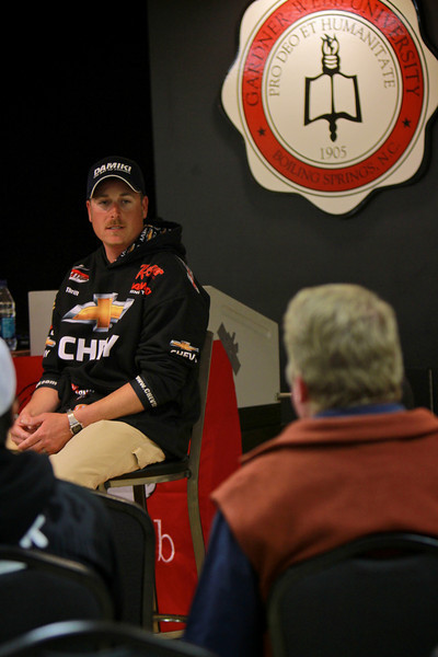 Fishing Champion Bryan Thrift visits GWU fishing club, students, faculty, staff and community members on the night of March 10, 2011.