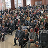 "Community: A large gathering of people attend the ""Stellar Community"" celebration at DePauw University Thursday morning."