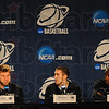 Meet the press: Indiana State University basketballplayers Aaron Carter, Jake Odum and Carl Richard were the representatives for the team at the pre-practice meeting Thursday afternoon in Cleveland.