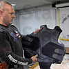 Vest: Terre Haute Chief of Police John Plasse shows one of the new vests purchased by grant money and money from the prosecutor's office Thursday afternoon.