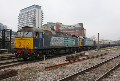 47501 Basingstoke 30/03/11 5Z48 Eastleigh to Edinburgh with 47802