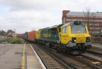 70003 Basingstoke 31/03/11 4O51 Wentloog to Southampton