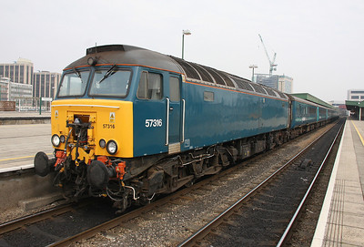 57316 Cardiff Central 26/03/11 having arrived with the 1V41 'Footex' from Holyhead