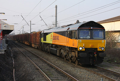 66845 Warrington Bank Quay 28/03/11 6J37 Carlisle to Chirk
