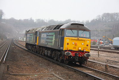 47802 Micheldever 29/03/11 0Z47 Crewe to Eastleigh with 47501