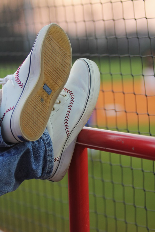 A Gardner-Webb fan sports a pair of baseball-themed Keds on March 18th, 2011.