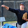 Tribune-Star/Jim Avelis<br /> Warming up: Andrew Oakley throws in the Rose-Hulman bullpen during practice Friday.