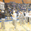 Tribune-Star/Rachel Keyes<br /> Champs: Over a thousand fans gathered at Hulman Center to welcome home the Indiana State Sycamores.