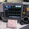 Lifenet: Detail photo of the monitor in the Terre Haute Fire Department ambulance used to transmit information to the Union Hospital emergency room.