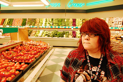 Freshman Kerstin Vanhuss takes a trip to the local Ingles to pick up food props for the upcoming theatre production of Dirty Rotten Scoundrels