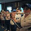 Rally time: The ISU pep band plays to help start off the pep rally at the Sycamore's hotel in Cleveland Friday evening.