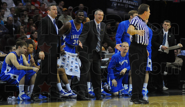 Right call?: The ISU bench discusses a call in the first half against Syracuse.