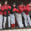 Tribune-Star/Rachel Keyes<br /> Dugout: Rose-Hulman's dugout watches as their team play Defiance College Friday night.
