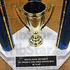Trophy: Detail photo of Science Bowl trophy.