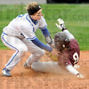 Tag: Indiana State's #2, Shelby Wilson puts the tag on Missouri State's Kerri Cunningham during game action Saturday. Cunningham was safe on the play.
