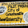 Stellar: Detail photo of cake.