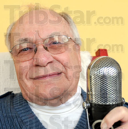 Man behind the mic: Ron Mott is the man behind the microphone Wednesday afternoon.