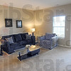 Living room: Interior photo of a model unit at the new Park Place senior living apartment complex.