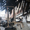 Tribune-Star/Rachel Keyes<br /> Gutted: The Building that houses E.D. Powell Attorney At Law was burned down to the frame Friday night.