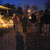 Tribune-Star/Jim Avelis<br /> Remembering: Friends of the Lewis family gathered Monday eveningfor a time of remembering those that died as a result of the early Saturday morning fire.