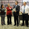 Proclamation: Mayor Duke Bennett reads a proclamation during Tuesday morning's event at Regional Hospital.