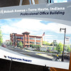 Artist rendering: Detail photo of coming office building.