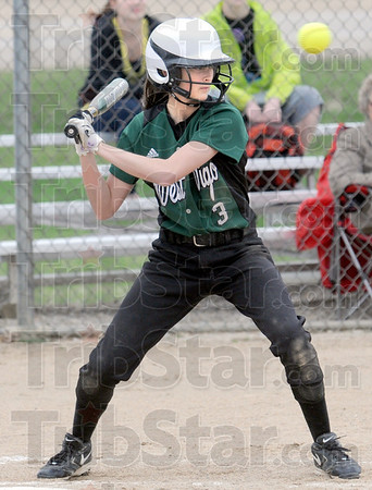 High ball: West Vigo's #3,Cassiday Carlson lays off the high ball during game action Tuesday against Marshall.