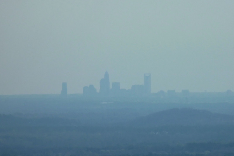 View of Charlotte, 25 miles away