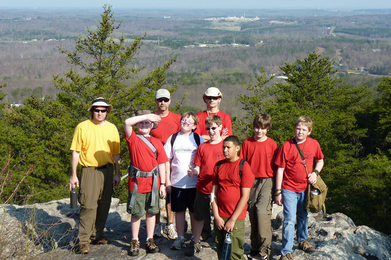 Anthony's first boy scout camping trip, to Crowder's Mountain.